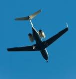 αεριωθούμενο δίδυμο μηχανών αεροπλάνων Στοκ Φωτογραφία