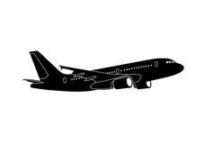 Αεριωθούμενο επιβατηγό αεροσκάφος Στοκ Εικόνα