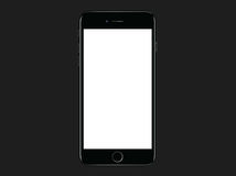 Αεριωθούμενο μαύρο iPhone 7 της Apple συν το πρότυπο προτύπων ελεύθερη απεικόνιση δικαιώματος