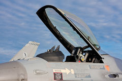 Αεριωθούμενο πιλοτήριο μαχητών Στοκ εικόνα με δικαίωμα ελεύθερης χρήσης