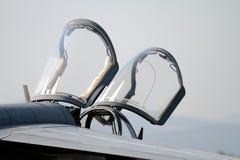 Αεριωθούμενο πιλοτήριο μαχητών Στοκ φωτογραφίες με δικαίωμα ελεύθερης χρήσης