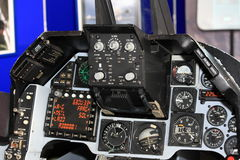 Αεριωθούμενο πιλοτήριο μαχητών Στοκ εικόνες με δικαίωμα ελεύθερης χρήσης