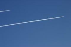 αεριωθούμενο ρεύμα δύο avions Στοκ Εικόνα