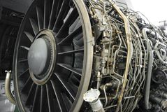 αεριωθούμενο turbofan μηχανών Στοκ φωτογραφίες με δικαίωμα ελεύθερης χρήσης