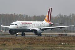 Αερογραμμές airbus A319-100 Germanwings στον αερολιμένα Στοκ φωτογραφίες με δικαίωμα ελεύθερης χρήσης