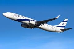 Αερογραμμές Boeing 737 του Ισραήλ ElAl αεροπλάνο Στοκ Εικόνες