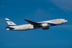 Αερογραμμές Boeing 777 Al Ισραήλ EL Στοκ εικόνες με δικαίωμα ελεύθερης χρήσης