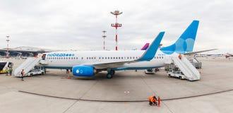 Αερογραμμές Boeing 737 Pobeda Στοκ Εικόνες
