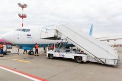 Αερογραμμές Boeing 737 Pobeda Στοκ Φωτογραφίες