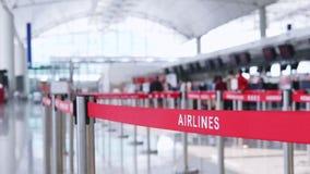 Αερογραμμή και έλεγχος στους μετρητές απόθεμα βίντεο