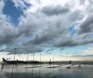 Αερολιμένας μετά από τη βροχή στοκ φωτογραφίες με δικαίωμα ελεύθερης χρήσης