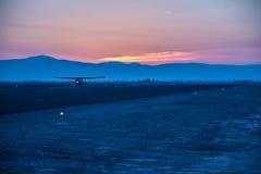 Αερολιμένας στην έρημο της Καλιφόρνιας στοκ εικόνες με δικαίωμα ελεύθερης χρήσης