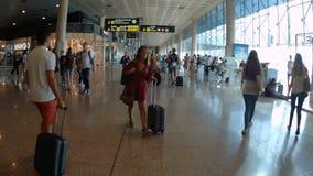 Αερολιμένας στη Βαρκελώνη Ισπανία φιλμ μικρού μήκους