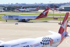 αερολιμένας Σύδνεϋ αεροπλάνων Στοκ Εικόνες