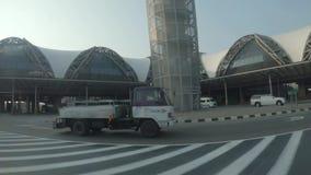 Αερολιμένας Ταϊλάνδη, αρχιτεκτονική, Ασία, σχέδιο της Μπανγκόκ, ελαφρύς, σύγχρονο, απόθεμα βίντεο