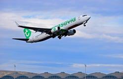 Αερολιμένας της Αλικάντε πτήσης αερογραμμών Transavia Στοκ φωτογραφία με δικαίωμα ελεύθερης χρήσης