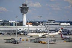 Αερολιμένας του Μόναχου, Βαυαρία, Γερμανία Στοκ εικόνα με δικαίωμα ελεύθερης χρήσης