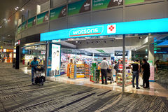 αερολιμένας Changi Σινγκαπού&r Στοκ Εικόνες