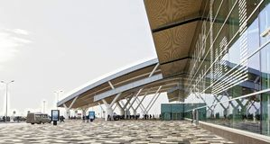 Αερολιμένας Platov, που χτίζεται για το Παγκόσμιο Κύπελλο 2018 της FIFA επιβάτες Στοκ εικόνα με δικαίωμα ελεύθερης χρήσης