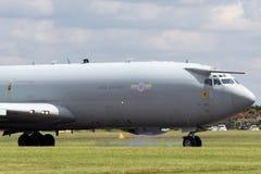 Αερομεταφερόμενα αεροσκάφη ZH101 AWACS έγκαιρης προειδοποίησης σκοπών της Royal Air Force RAF Boeing E-3D στο σταθμό Waddington τ Στοκ Φωτογραφίες