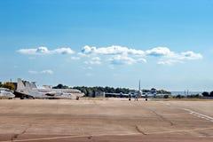 αεροπλάνα αεροδρομίων Στοκ Φωτογραφία