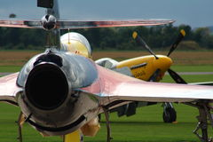 αεροπλάνα αερολιμένων Στοκ εικόνα με δικαίωμα ελεύθερης χρήσης