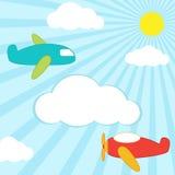 αεροπλάνα ανασκόπησης Στοκ εικόνες με δικαίωμα ελεύθερης χρήσης