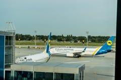 Αεροπλάνα Boeing στον αερολιμένα Boryspil στοκ φωτογραφίες με δικαίωμα ελεύθερης χρήσης