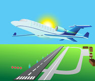 αεροπλάνο αεριωθούμενων αεροπλάνων επιχειρησιακής κλάσης Στοκ Εικόνες