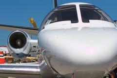 αεροπλάνο αεριωθούμεν&omeg Στοκ Φωτογραφίες