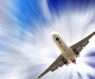 αεροπλάνο αεριωθούμεν&omeg Στοκ Εικόνα