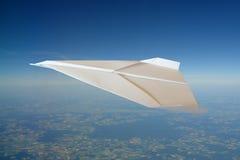 αεροπλάνο εγγράφου Στοκ φωτογραφίες με δικαίωμα ελεύθερης χρήσης