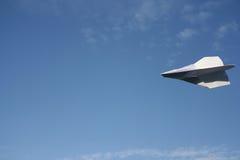 αεροπλάνο εγγράφου Στοκ Εικόνες