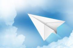 αεροπλάνο εγγράφου Στοκ εικόνες με δικαίωμα ελεύθερης χρήσης