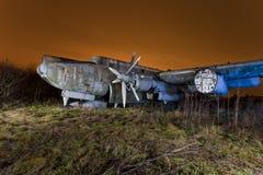 αεροπλάνο εγκαταλελειμμένο στοκ φωτογραφία