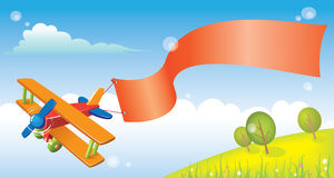 αεροπλάνο κινούμενων σχεδίων στοκ εικόνες με δικαίωμα ελεύθερης χρήσης