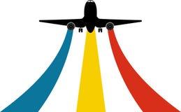αεροπλάνο λογότυπων Στοκ Εικόνες