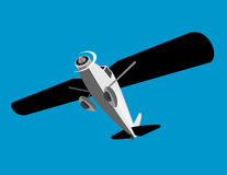 αεροπλάνο που πετά από πάνω Στοκ Εικόνα