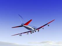 Αεροπλάνο που πετά 28 Στοκ Εικόνες