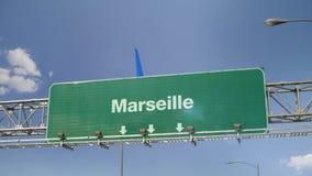 Αεροπλάνο που προσγειώνεται τη Μασσαλία ελεύθερη απεικόνιση δικαιώματος