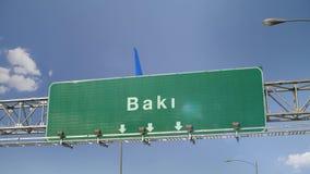 Αεροπλάνο που προσγειώνεται το Μπακού απόθεμα βίντεο