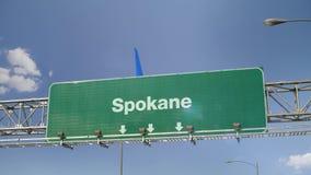 Αεροπλάνο που προσγειώνεται το Spokane φιλμ μικρού μήκους
