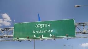 Αεροπλάνο που προσγειώνεται Andaman απόθεμα βίντεο