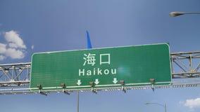 Αεροπλάνο που προσγειώνεται Haikou απόθεμα βίντεο