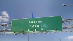 Αεροπλάνο που προσγειώνεται Kazan απόθεμα βίντεο