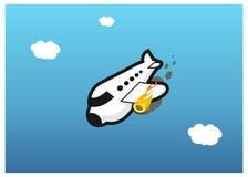 αεροπλάνο πυρκαγιάς Διανυσματική απεικόνιση