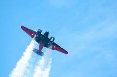 Αεροπλάνο στην ενέργεια στοκ εικόνες με δικαίωμα ελεύθερης χρήσης