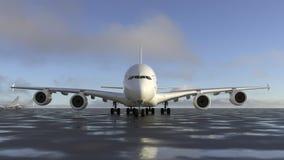 Αεροπλάνο στο διάδρομο απεικόνιση αποθεμάτων