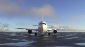 Αεροπλάνο στο διάδρομο ελεύθερη απεικόνιση δικαιώματος