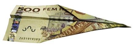 Αεροπλάνο χρημάτων Στοκ Φωτογραφίες